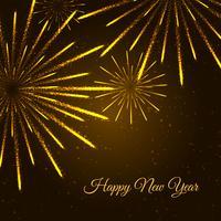 Feliz ano novo ilustração de fogos de artifício vetor