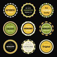 Conjunto de emblemas vintage retrô