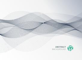 Linha de cor cinza abstrata elemento de onda para o fundo do projeto. vetor