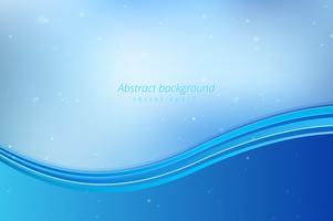 Fundo abstrato ondas azuis vetor