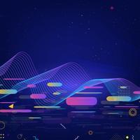 Fundo colorido de tecnologia