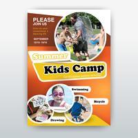 panfleto de acampamento de crianças vetor