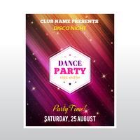 Cartaz de festa de discoteca vetor