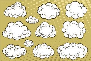 Nuvens de quadrinhos vetor