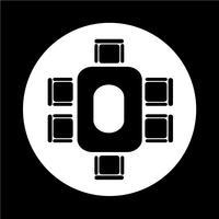 ícone de mesa de negócios de conferência vetor