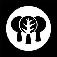 Ícone da árvore vetor