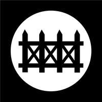 ícone de cerca vetor
