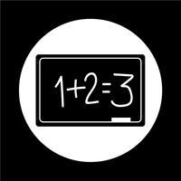 Ícone de quadro-negro vetor