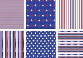 Pacote vetorial de padrão de estrelas e listras dos EUA