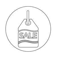 Ícone de tag de venda vetor