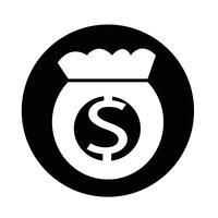 Ícone de saco de dinheiro vetor