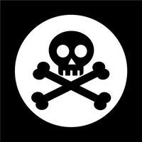 ícone do osso do crânio vetor
