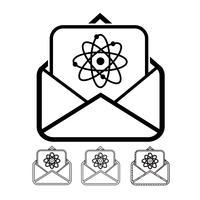 vetor de ícone de e-mail e correio