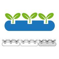 Vetor de ícone de planta