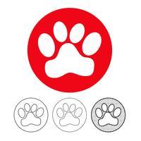 Pegada de animais ícone Vector