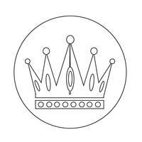 Ícone da coroa vetor