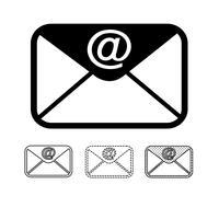 vetor de ícone de e-mail mail