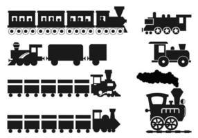 Pacote do vetor do trem dos desenhos animados