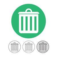 ícone de lata de lixo vetor