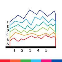 Ícone de gráfico de dados de negócios vetor