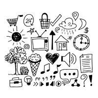 hand draw business doodles ícone vetor