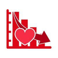 Coração, vetorial, ícone vetor
