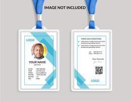 Cartão de identificação impressionante azul vetor