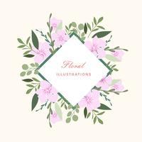 Ilustração abstrata da flor do vetor