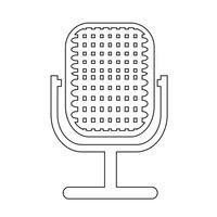 Sinal, de, microfone, ícone vetor