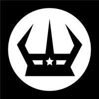 Sinal, de, coroa, ícone vetor