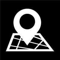 ícone de gps de ponteiro de mapa vetor