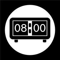 Ícone de sinal de tempo vetor