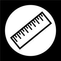 Sinal de ícone de régua vetor