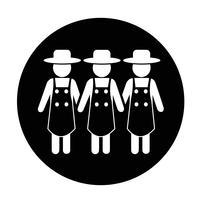 Cadastre-se de ícone de agricultor vetor