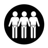 Terno de Natação Pessoas Icon vetor