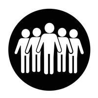 Sinal de pessoas ícone vetor