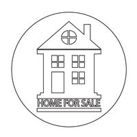 Casa para venda icon vetor