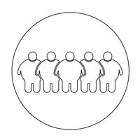 Ícone de pessoas gordas