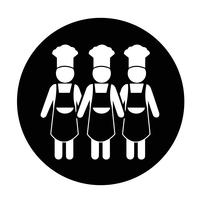 Chef pessoas ícone vetor
