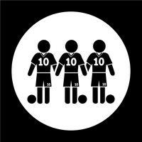 Ícone de jogador de futebol de futebol vetor