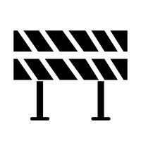 Ícone de barreira de estrada vetor