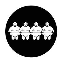 Sumo wrestling Pessoas Icon vetor