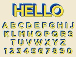 Design de tipografia em negrito amarelo vetor