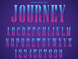 Tipografia de Serif roxo colorido vetor