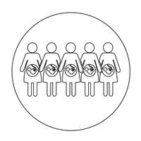 Mulher grávida, ícone vetor