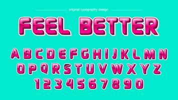 Tipografia bold (realce) rosa brilhante vetor