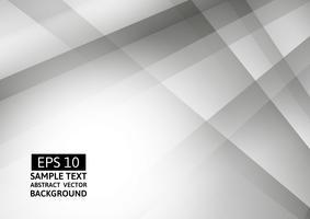 Abstrata geométrica branca e cinza cor, fundo moderno com espaço de cópia, eps10 de ilustração vetorial vetor
