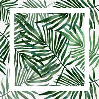 hand drawn watercolor Vetor de folha tropical
