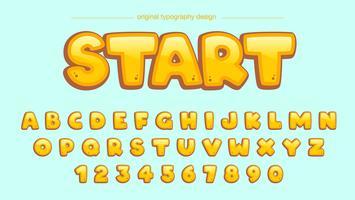 Tipografia Amarela Dos Desenhos Animados vetor