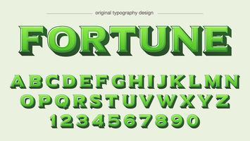 Design de tipografia verde em negrito vetor